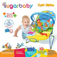Take Baby Shoppee: PROMO Sugar Baby Bouncer 3 Recline Fun Dino