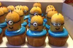 "Minion Cupcakes. ""Despicable Me"" birthday theme."