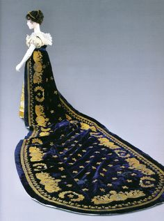 Austen era court train dress