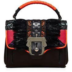Paula Cademartori Dun Dun Detailed Top Handle (€870) ❤ liked on Polyvore featuring bags, handbags, black purse, top handle purses, top handle bag, black top handle handbag and black top handle bag