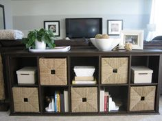 Toy storage for living room... From Ikea