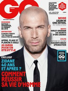 Zinedine Zidane on GQ France