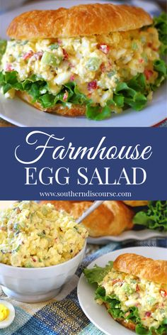 This is THE BEST egg salad recipe! Easy southern delicious this Farmhouse style egg salad has pickle relish pimentos celery and green onion. Best Egg Salad Recipe, Easy Salad Recipes, Healthy Recipes, Egg Salad Recipe Pickles, Egg Salad Sandwich Recipe With Relish, Simple Egg Salad Recipe, Simple Egg Recipes, Masters Egg Salad Recipe, Classic Egg Salad Recipe