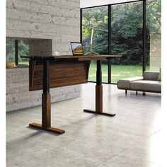 Copeland Invigo Sit-Stand Desk In Walnut Wood From Eco Friendly Digs. Love this sit to stand desk from Copeland Furniture. Eco Friendly Digs is also a great website that I have recently found that I adore!