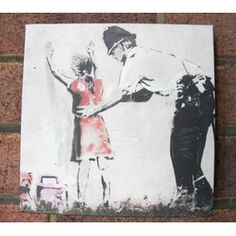 £20 Banksy Frisk Art. Our Banksy prints measure 20cm x 20cm and are great value for money. They make a fantastic gift for art lovers, anarchists and modern philosophers alike!