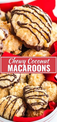 These Coconut Macaroons are chewy and moist on the inside and crispy on the outside! Made with lemon zest and without sweetened condensed milk, these sweet and easy coconut cookies are going to be everyones favorite treat this holiday season. Lemon Dessert Recipes, Macaroon Recipes, Coconut Recipes, Easy Desserts, Baking Recipes, Cookie Recipes, Macaroon Cookies, Coconut Cookies, Easy Coconut Macaroons