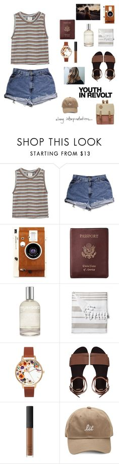 """wrong interpretations"" by thunderingwaves ❤ liked on Polyvore featuring Edith A. Miller, LØMO, Royce Leather, (MALIN+GOETZ), Serena & Lily, Olivia Burton, ASOS, NARS Cosmetics and Hedi Slimane"