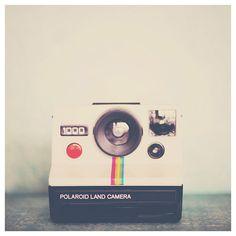camera photograph, polaroid camera, green, still life photography, retro, hipster, white, rainbow, color photography