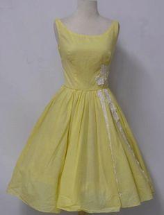 Yellow Vintage Dress From Rusty Zipper