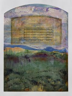"Mixed Media Artists International: Mixed Media Contemporary Abstract Painting ""AUTUMN SONG"" by Santa Fe Contemporary Artist Sandra Duran Wilson"