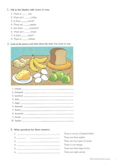 There to be/How many / How much / some/any worksheet - Free ESL printable worksheets made by teachers