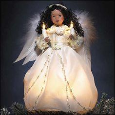 christmas black angel tree topper angel on high tree topper