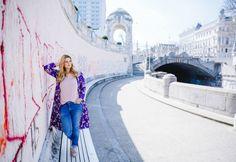 Outfit unter Kirschblüten: Rosa meets Ultraviolet und Karl Lagerfeld Tasche Karl Lagerfeld Taschen, Pastel Pink, Ultra Violet, Pink Flowers, Outfits, Fashion, Pink, Moda, Suits