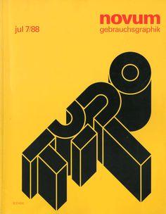 Voloda Tscajka, cover for Novum, 1988