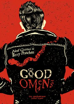 """""""Armageddon only happens once, you know. They don't let you go round again until you get it right."""" Good Omens, by Neil Gaiman and Sir Terry Pratchett. Artwork by Harvey Westwood Neil Gaiman, Good Omens Book, Michael Sheen, Terry Pratchett, Fanart, American Gods, Angels And Demons, Crowley, Apocalypse"""