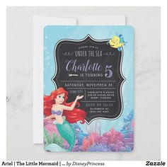 Mermaid Theme Birthday, Disney Princess Birthday, Little Mermaid Birthday, Girl Birthday, Birthday Ideas, Free Birthday, Fourth Birthday, Birthday Decorations, Disney Little Mermaids