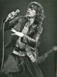 The Rolling Stones: Mick Jagger on stage.