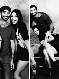 Crystal Reed Tyler Hoechlin at the Team Wolf Con in Paris