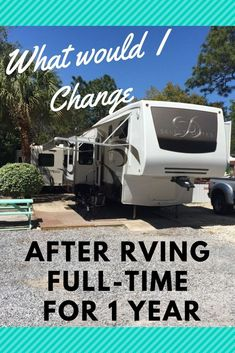 [orginial_title] – La Darby 8 Things I would do diferently after RVing full-time for one year/ If you're considering RVing full-time this article will give you tips and tricks before hitting the road… Camping Life, Rv Camping, Camping Places, Camping Ideas, Camping Supplies, Camping Stuff, Camping Outdoors, Family Camping, Glamping