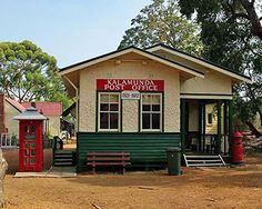 Kalamunda History Village is local History Museum and is located on the site of the old Upper Darling Range Railway Station built in the Local History, History Museum, Historical Society, Post Office, Old Things, Cabin, House Styles, Building, Outdoor Decor