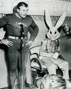 Look at this bunny; you know he is plotting to kill Superman.