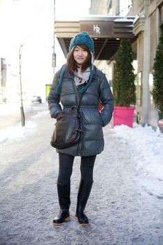 Montreal Winter Street Fashion