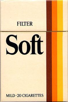 Soft  #cigarette #vintage #design