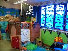 A super Pirate classroom display photo contribution. Great ideas for your classroom! Class Displays, School Displays, Classroom Displays, Classroom Themes, Ks1 Classroom, Classroom Design, Pirate Preschool, Pirate Activities, Eyfs Activities