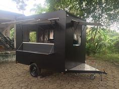 Projeto Texas Burguer - Santiago Carretas Food Cart Design, Food Truck Design, Coffee Food Truck, Food Trailer For Sale, Mobile Coffee Shop, Coffee Shop Branding, Custom Bbq Pits, Coffee Trailer, Build A Camper