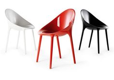 Super Impossible Armchair - Two-tone / Polycarbonate White / black by Kartell