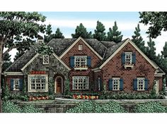 European House Plan with 3635 Square Feet and 4 Bedrooms from Dream Home Source | House Plan Code DHSW53496