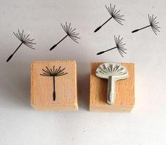 Pflanzen - Pusteblume Stempel 2 cm - ein Designerstück von Utenliesjen bei DaWanda