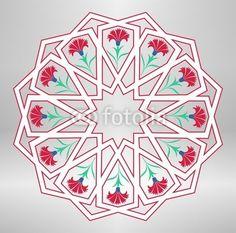 Vektör: traditional ottoman geometric design