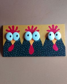 Easter İdeas 336151559690979040 - 50 Easy DIY Chicken Painted Rocks Ideas Source by myriamledig Chicken Crafts, Chicken Art, Diy Simple, Easy Diy, Art For Kids, Crafts For Kids, Diy And Crafts, Chicken Painting, Diy Ostern