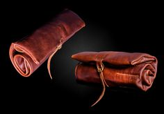 handmade leather knife roll by OLDSALTSLEATHERWORKS on Etsy