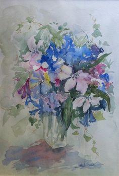 Flower Jam (Maria Biloni, Watercolor, 2006, 35 x 50)