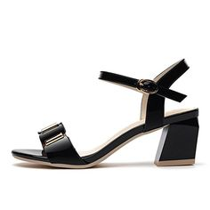 Summer Thick With OpenToed Metal Clasp Sandals Outdoor Woman LowHeeled Shoes Black 39US *** You can get additional details at the image link.(This is an Amazon affiliate link and I receive a commission for the sales)