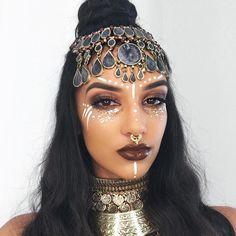 Glow in the Dark Glitter - Barely Bronze - GLO TATTS Tribal Goddess beauty festival style