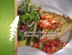 Green Chile & zucchini quiche - Sara Moulton - watched on tv Food Processor Pizza Dough, Food Processor Recipes, Breakfast For Dinner, Breakfast Recipes, Appetizer Recipes, Appetizers, I Love Food, Food Network Recipes, Zucchini