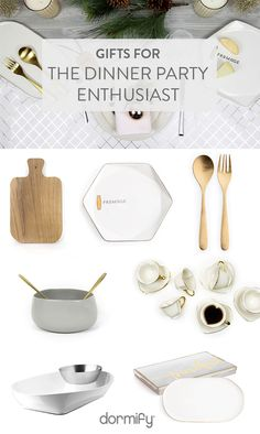 Cook up some awesome Holiday gifts for your favorite dinner party enthusiast with these gifts from Dormify!