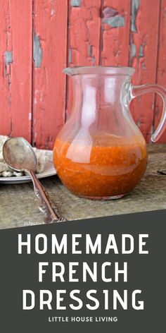 Want to make your own homemade French Dressing recipe? This one is so simple and can be made into a traditional or creamy style French Dressing. Homemade French Dressing, Old Fashioned Goulash, Little House Living, Breakfast Recipes, Dinner Recipes, Old Fashioned Recipes, Old Fashioned Cocktail, Dressing Recipe, Canning Recipes