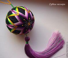 """Купить Темари """"Лотос"""" - сиреневый, лиловый, лотос, темари, необычный подарок, необычный сувенир"""