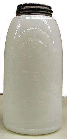 milk glass Mason jar - interiors-designed.com