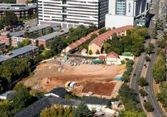 Sandton Developments - The rapidly developing Sandton, Johannesburg in South Africa. A number of building demolished to make space for new buildings.