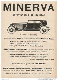 1928, Minerva, Milaan, 2 l., 6 cyl.