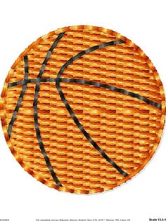 Basketball Machine Embroidery Design Mini by SimplySweetEmbroider, $2.00