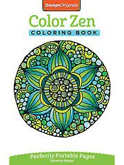 Adult Coloring Books - Color Zen On-the-Go! Coloring Book