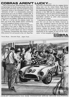 AC Cobra / Ford Shelby Cobra, - The 100 most beautiful cars (The Daily Telegraph) Ac Cobra, Ford Shelby Cobra, Shelby Car, Mustang Cobra, Shelby Mustang, 1964 Ford, 1957 Chevrolet, Carroll Shelby, Car Illustration