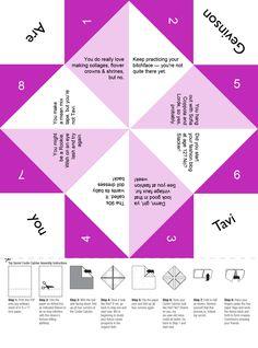 Paper Fortune Teller Ideas Funny : paper, fortune, teller, ideas, funny, Michelle, Shulman, (michelleschulman15), Profile, Pinterest