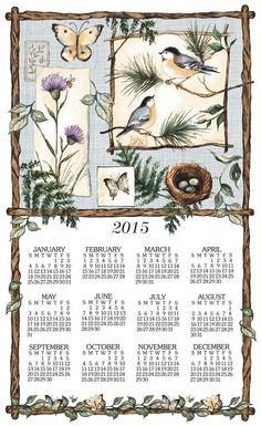 Natures Sketchbook Linen Calendar Towel